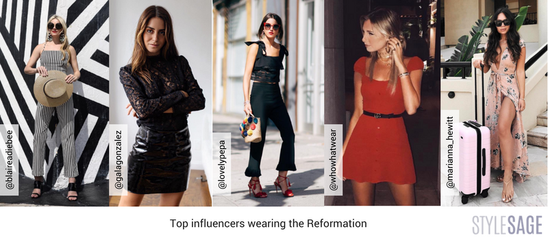 influencers wearing the Reformation