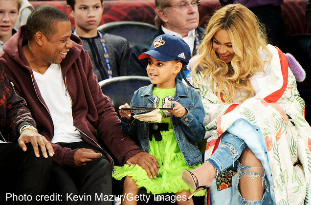 Beyonce, Blue Ivy and Jay-Z
